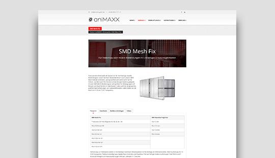 SOMMER GmbH - aniMAXX-Website