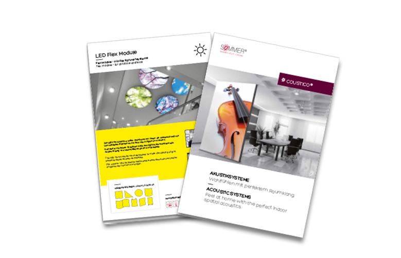 SOMMER GmbH - coustico und LED Flex Module – Broschüren